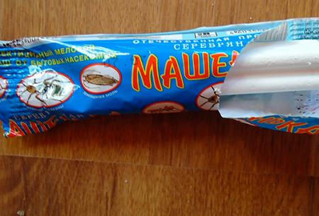 Εντομοκτόνο κιμωλία από κατσαρίδες Masha και ανασκοπήσεις της χρήσης του